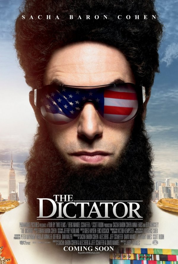 The Dictator starring Sacha Baron Cohen