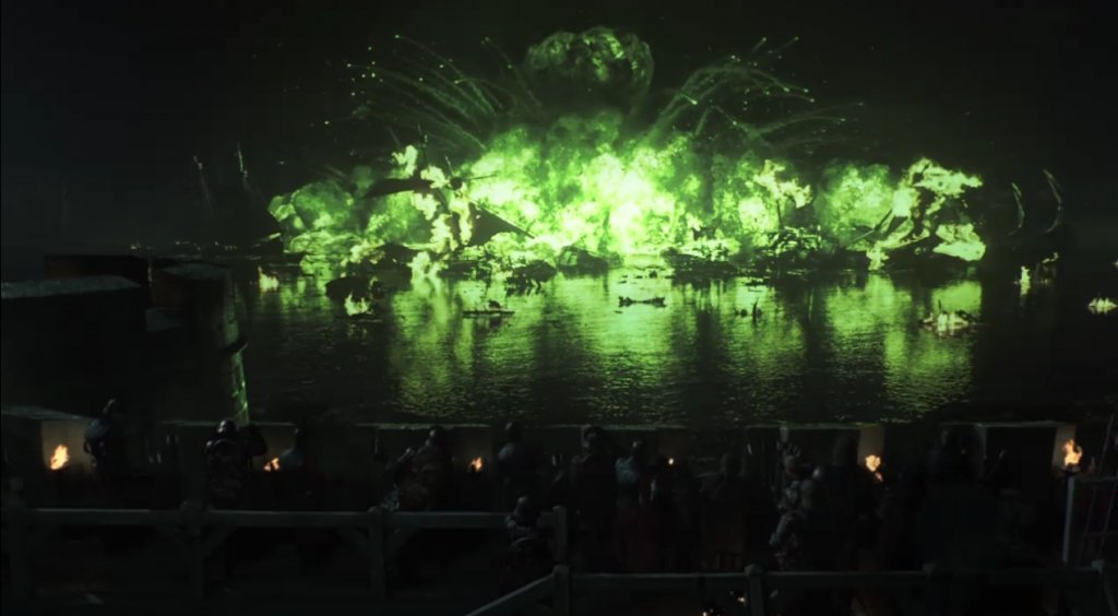 Game of Thrones Blackwater explosion