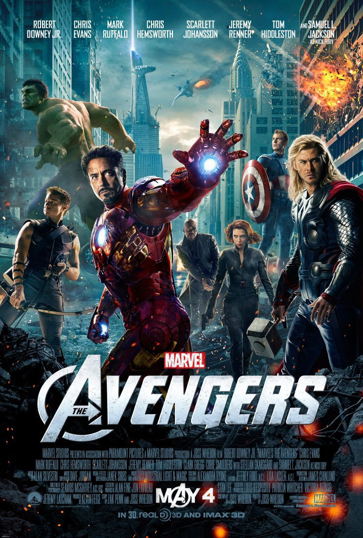 North American poster for Marvel's The Avengers.