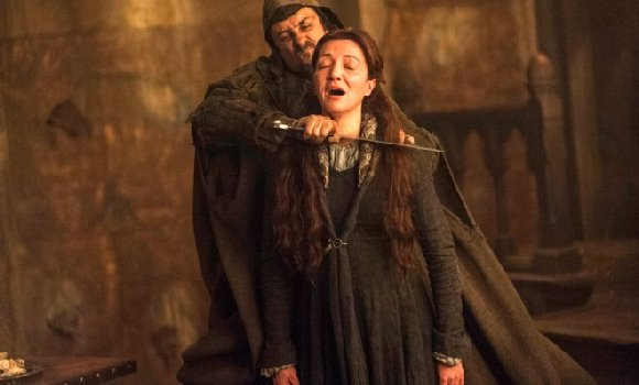 Game of Thrones Catelyn Stark getting murdered