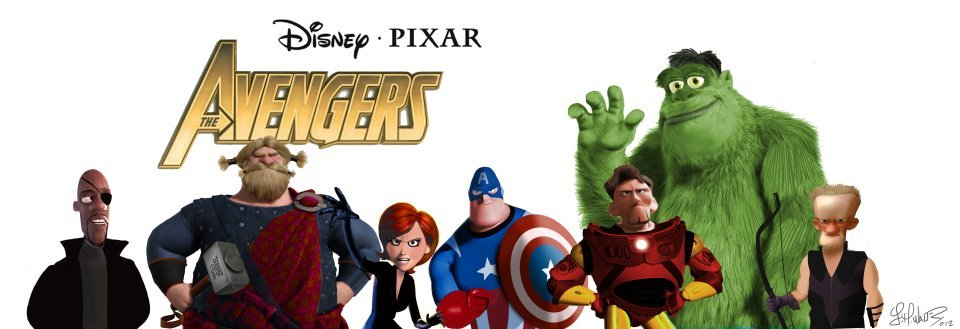 Marvel's The Avengers as Pixar superheroes