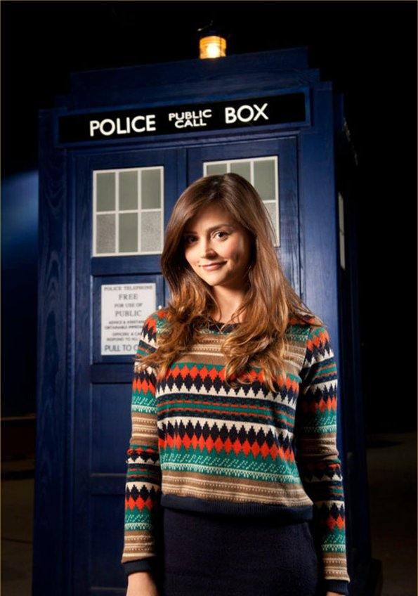 Jenna-Louise Coleman as the new Doctor Who companion.