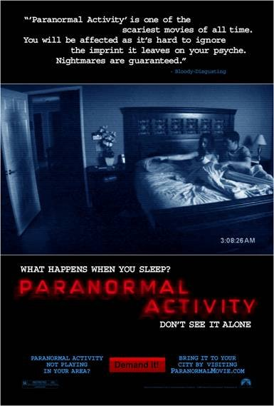 paranormal activity poster small Fright Filmmakers Ask Audience to Summon Paranormal Activity in Theaters